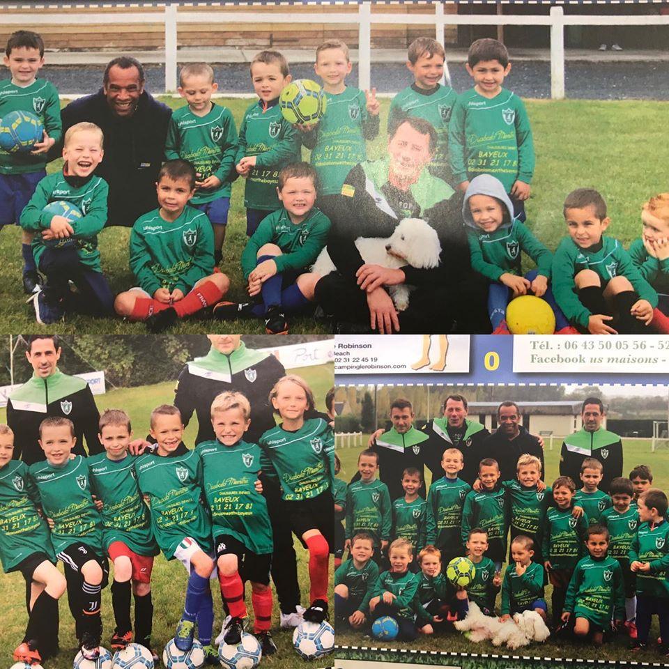 Ce matin au courrier un calendrier de l'US Maison avec des petits footballeurs aux couleurs de Diabolo Menthe : Fière de soutenir les petits dans leurs pratiques sportives#usmaison#diabolomenthebayeux#chaussuresenfants#footballmaison