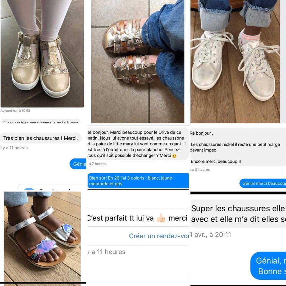 Quand les clients qui n'ont pas pu essayer en magasin font super retour soit photo soit en message😍😍Un grand merci de soutenir le petit commerce indépendant#acebosshoes#bellamy#shoopom#chaussuresenfants#diabolomenthebayeux#bayeuxshopping#printempsete2020